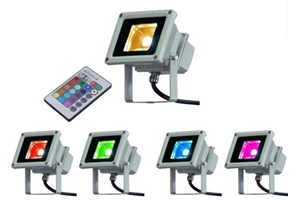 10W RGB LED Flood Light