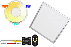 24W 300x300mm Dual White LED Panel Light