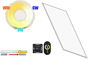 48w 1200x600mm Dual White LED Panel Light