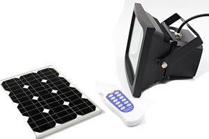 3W Solar LED flood lights with RF remote