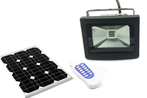 6W RF Dimmable Solar LED flood lights