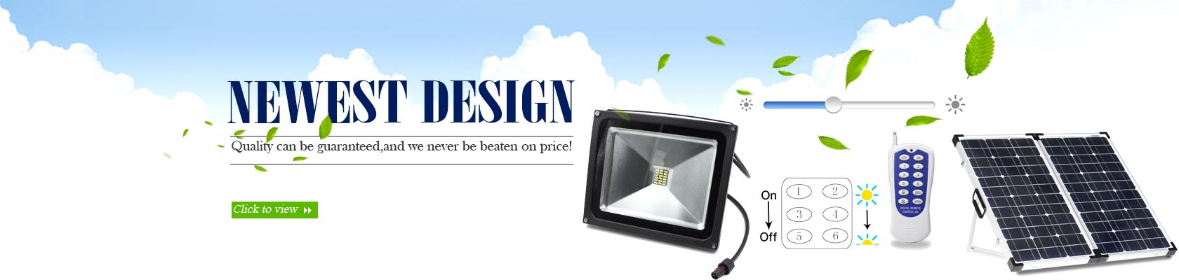RF Solar LED flood lights with remote