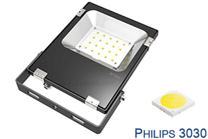 20W 110lm/w Philips chip Ultra Slim LED Flood Lights